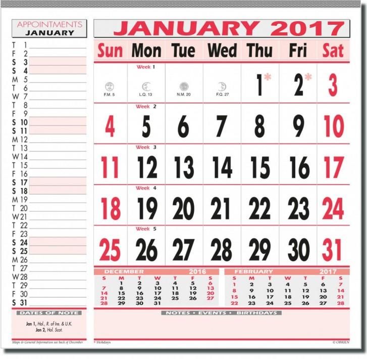 7 Large Pad Obrien Diaries Obrien Diaries