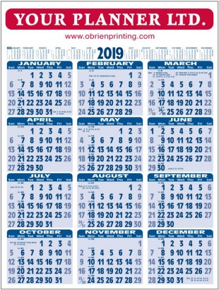 Wall Chart 2019