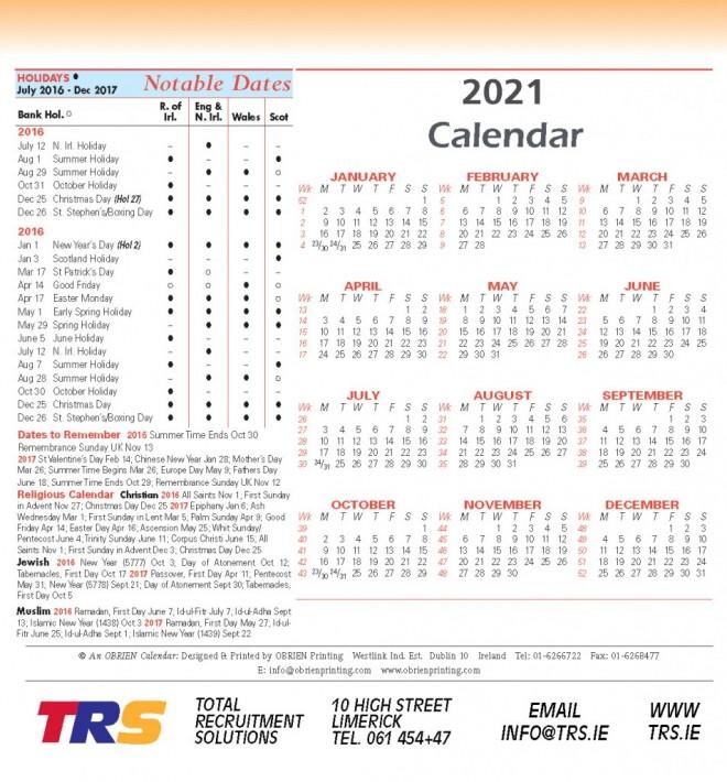 Dates 2021